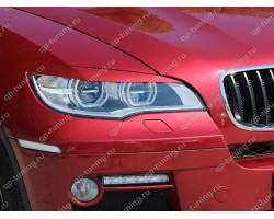 Реснички на фары BMW X6 E71 (2008)  (для LED оптики)