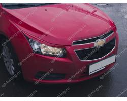 Реснички на фары фигурные var №1 Chevrolet Cruze