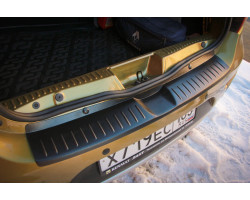 Накладка на задний бампер Рено Сандеро 2 | Renault Sandero 2 АртФорм с 2014 г.в.