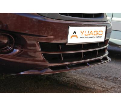 Нижний спойлер переднего бампера цвет (в цвет автомобиля) Лада Гранта с 2011 г.в.
